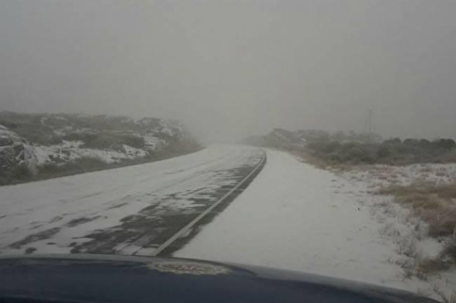 El Camino a las Altas Cumbres está cortado por hielo