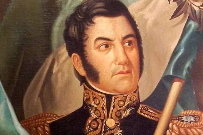 """""""San Martín comía el asado sólo con un cuchillo"""""""