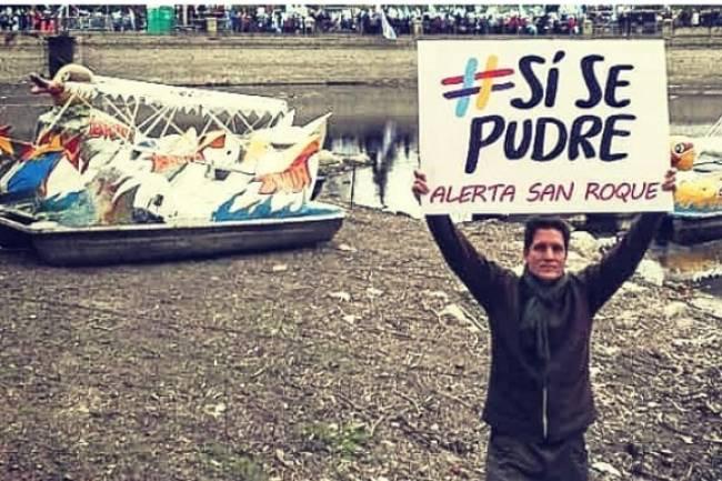 El reclamo por la contaminación del Lago San Roque se metió en el acto de Macri