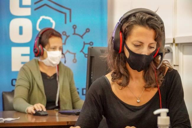 El COE ofrece contención psicológica a través de su call center