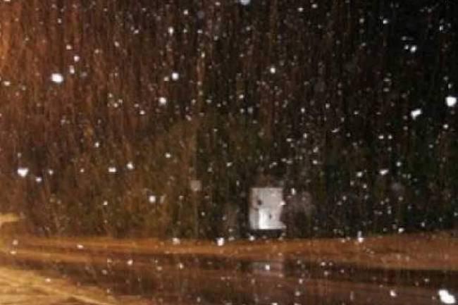 Caen copos de nieve en Copina, Altas Cumbres