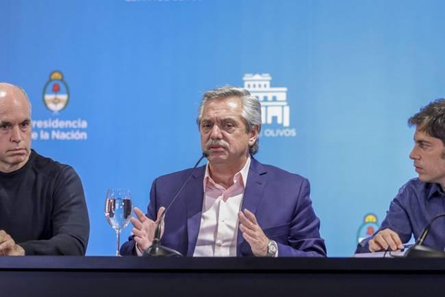 Fernández, Kicillof y Rodríguez Larreta analizan este lunes volver a la Fase 1