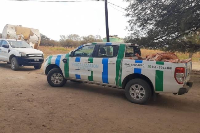 Faena clandestina: decomisan 16 medias reses en Juárez Celman