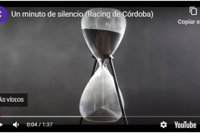 Racing de Córdoba y un video para reflexionar sobre el Coronavirus
