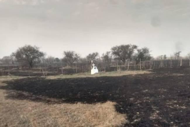 Milagro… el fuego no quiso tocar la Gruta en memoria de su hija.