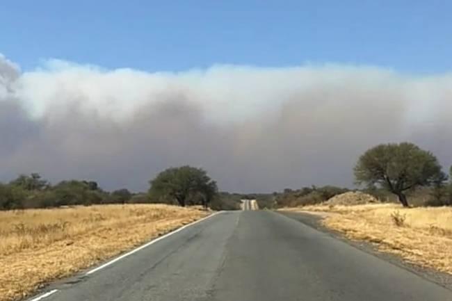 Fuego sin control en el norte de Punilla