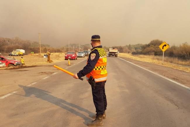 Incendios: corte total de la RN38, tramo Capilla del Monte – Cruz del Eje