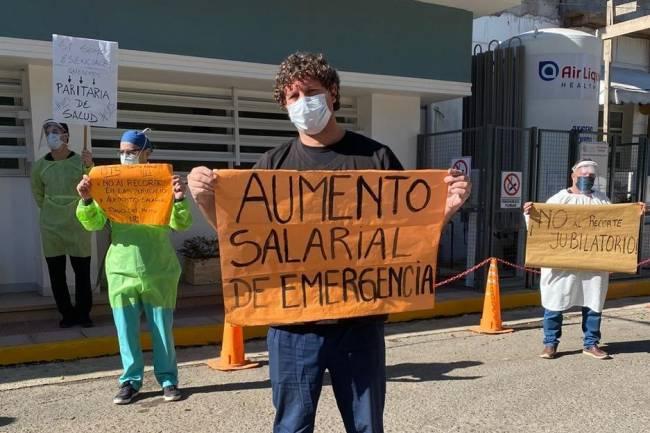 Paro y movilización de los trabajadores de la salud en Córdoba por recomposición salarial