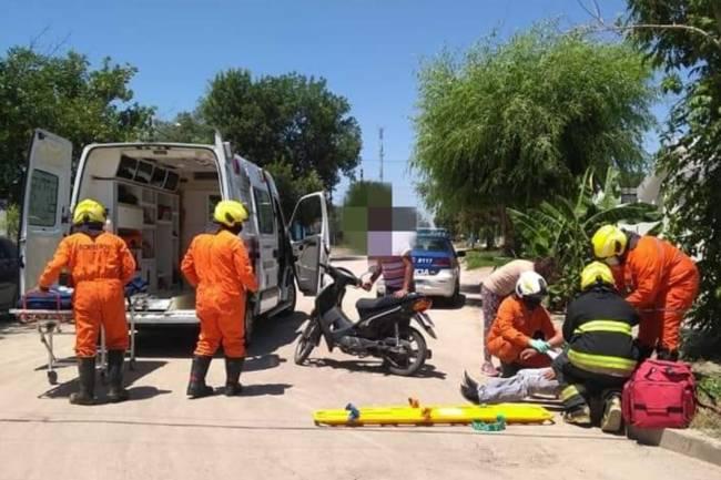 Leones: Una moto protagoniza un accidente urbano