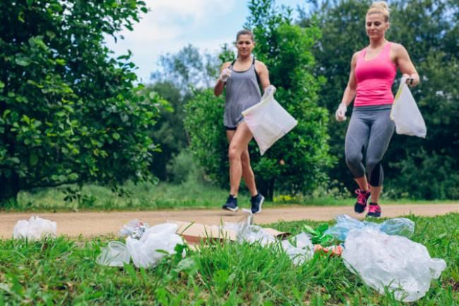 Ejercitando mientras se cuida el medio ambiente