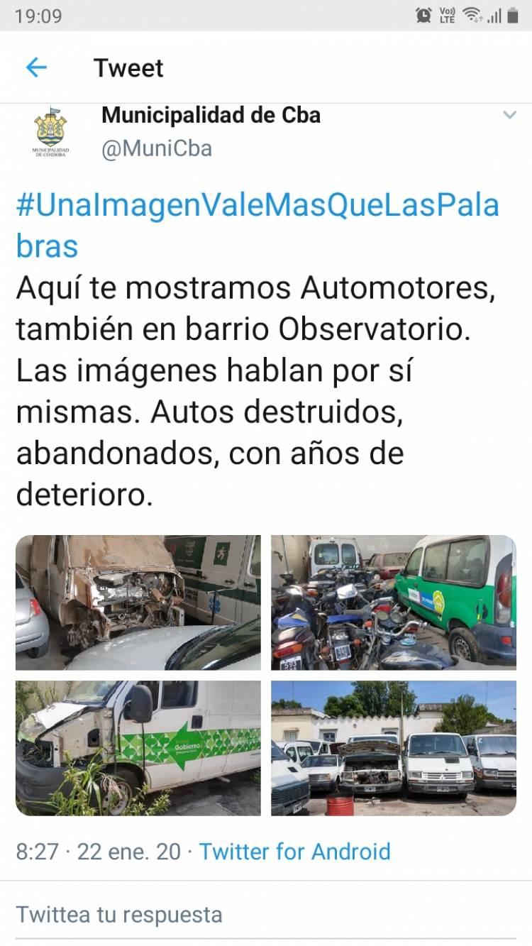 Los tweets de la Municipalidad para mostrar el deterioro