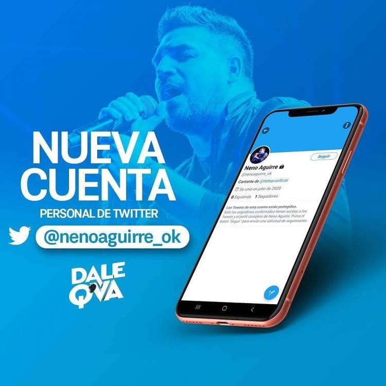 Dale Q Va comunicó las nuevas cuentas personales de Neno Aguirre.